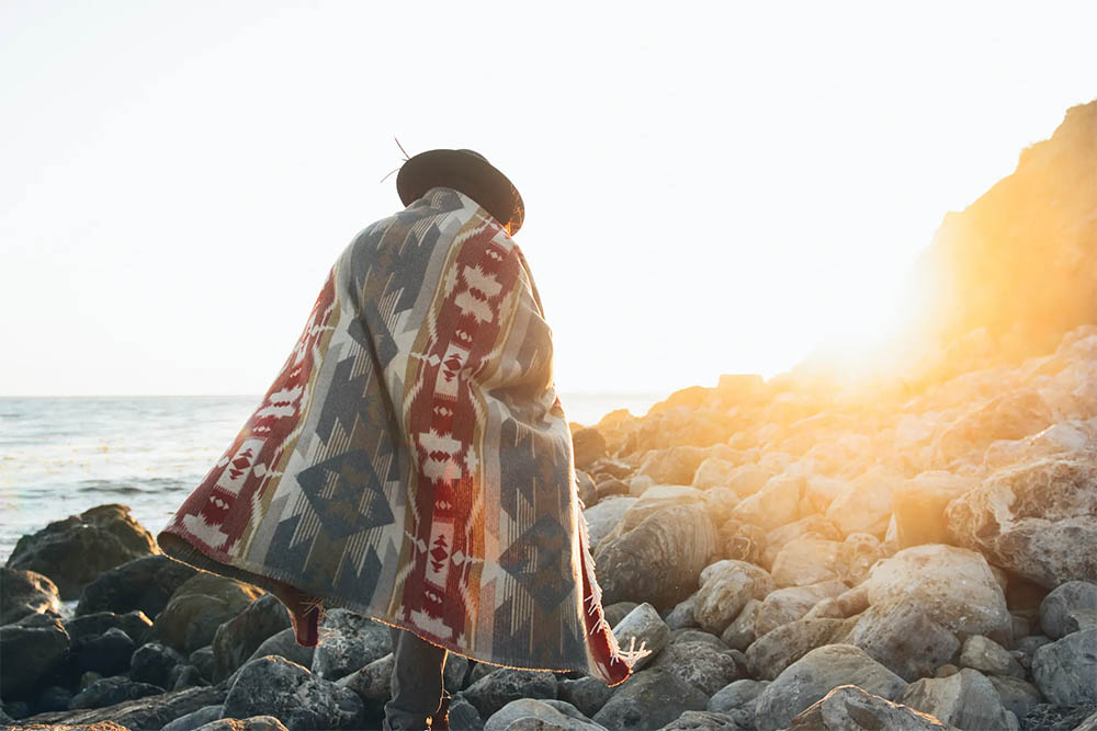Sackcloth & Ashes Introduces Native-American Artist Designed Blanket